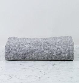 "Heavy French Linen Throw - Granite - 50 x 80"""