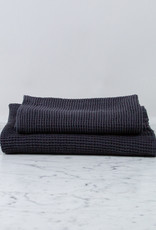 """Thermal French Linen + Cotton Waffle Hand Towel - 20 x 32"""" - Anthracite Grey"""