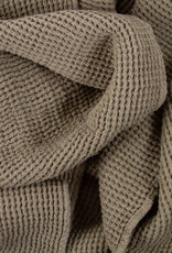 """Compact Thermal French Linen + Cotton  Waffle Bath Towel - 24 x 40"""" - Mouse Back Grey"""