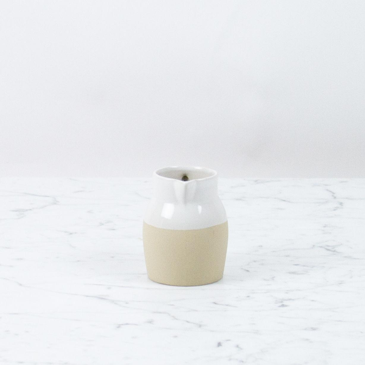 "Manufacture de Digoin Manufacture de Digoin Small White Pitcher - 4"""