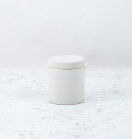 """Manufacture de Digoin Manufacture de Digoin White Canister with Lid - 5"""""""