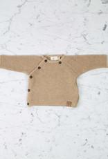 Petit Kolibri Alpaca + Cotton Knit Jacket Sweater - Brown - 0-3 Month
