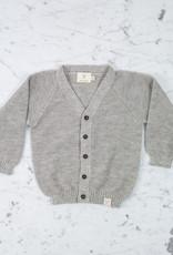 Petit Kolibri Alpaca + Cotton Knit Cardigan - Grey - 12-24 Month