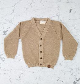 Petit Kolibri Alpaca + Cotton Knit Cardigan - Brown - 2-3 Year
