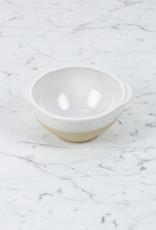 "Manufacture de Digoin Manufacture de Digoin White Bowl with Flat Handles - 6.5"""