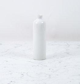 Manufacture de Digoin Manufacture de Digoin White Full Glaze Bottle or Cruet