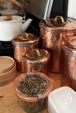 """Copper Storage Canister Brass Handle - Small - 5.5"""""""