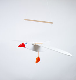 Wooden Flapping Seagull Mobile