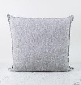 """25"""" Linen Pillow COVER ONLY - Black + White Stripe"""