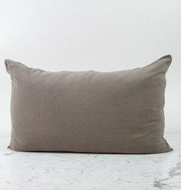 """Couleur Chanvre Hemp Pillowcase - Standard or Queen - 20 x 28"""" - Halong Bay Grey"""