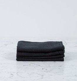 "Couleur Chanvre French Linen Napkin - 18"" - Slate Black"