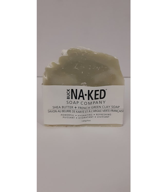 Buck Naked Soap Shea Butter & French Green Clay 140g/5oz