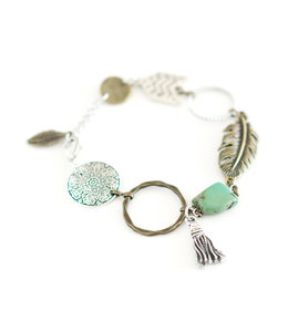 Freckle Face Feather tassel bracelet