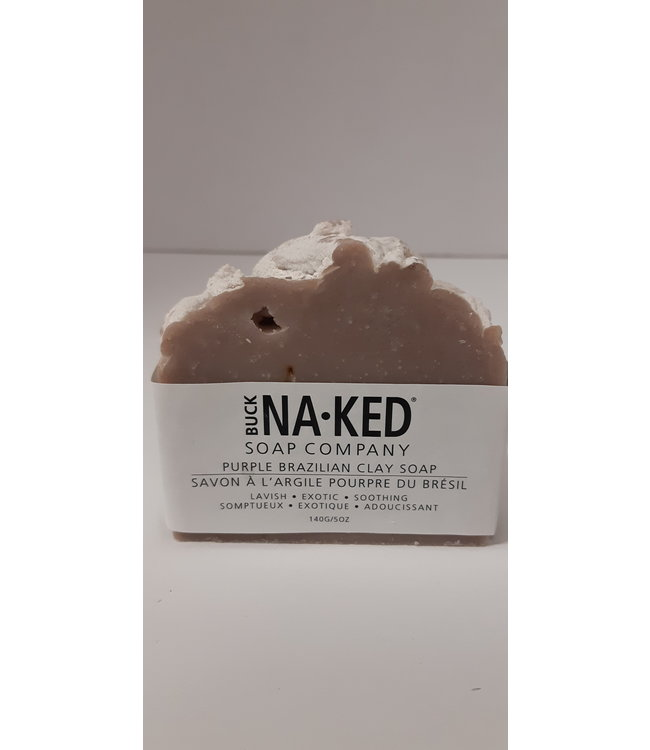 Buck Naked Soap Purple Brazilian Clay 140g/5oz