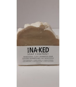 Buck Naked Rhassoul Clay Shampoo Bar 140g/5 oz