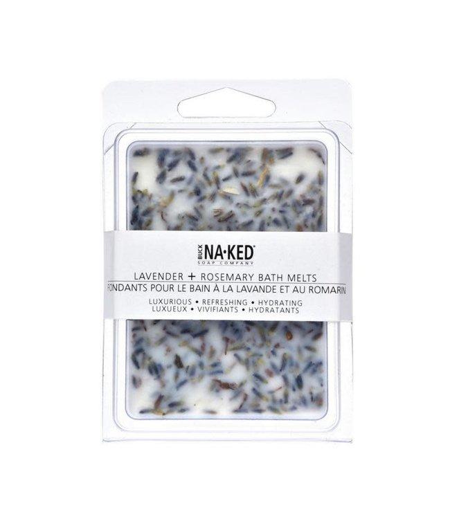 Buck Naked Lavender & Rosemary Bath Melts 80 mls /2.75 floz