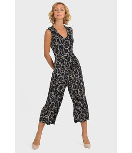Joseph Ribkoff Circle Pattern Coulotte Jumpsuit