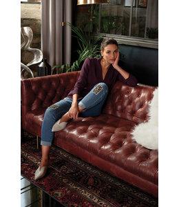 Joseph Ribkoff Leopard patch jeans