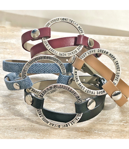 Freckle Face Leather Wrap Bracelet