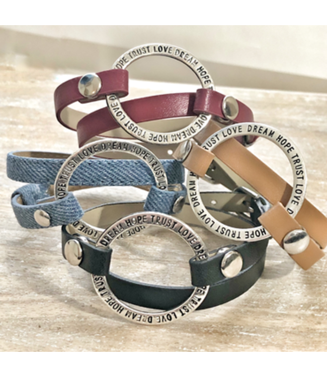 Freckle Face Leather Wrap Bracelet