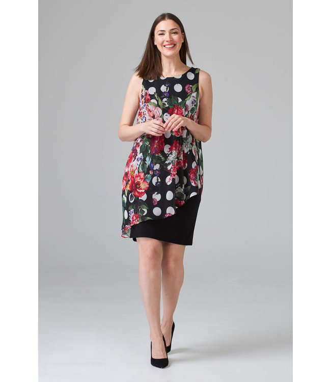 Joseph Ribkoff Dress Black/Multi