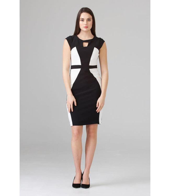 Joseph Ribkoff Dress Black/Vanilla