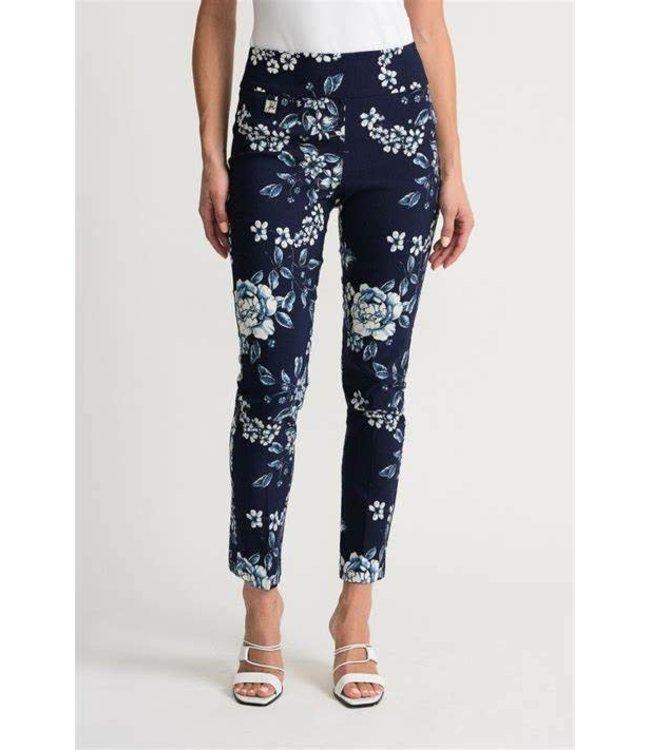 Joseph Ribkoff Floral print trousers-blue