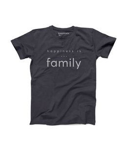 Happiness is... Men's Family t-shirt-vintage black