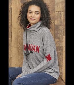 Parkhurst Canadian made drawstring-grey tweed