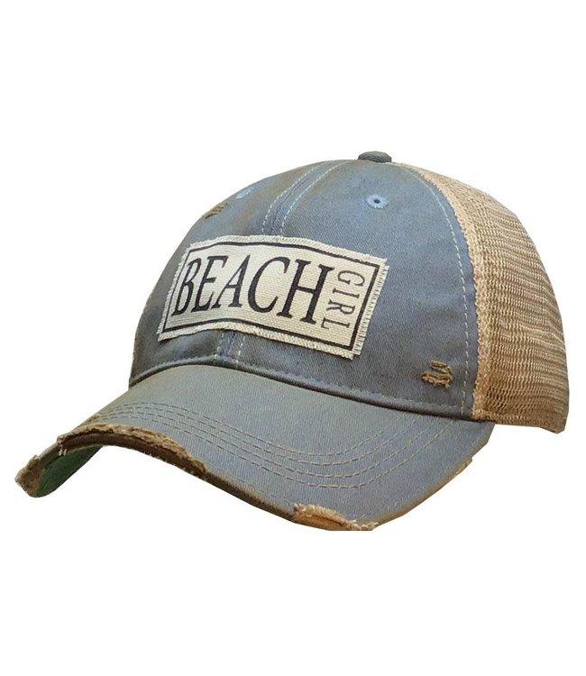 Vintage Life Hats Beach Girl - sky blue