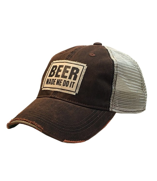 Vintage Life Hats Beer made me do it