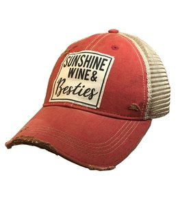 Vintage Life Hats Sunshine wine and besties