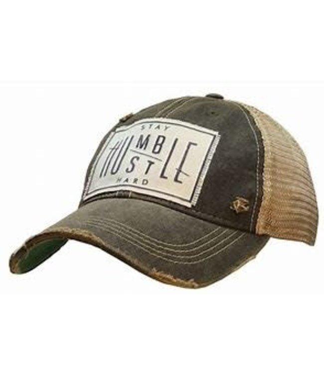 Vintage Life Hats Stay humble/hustle hard