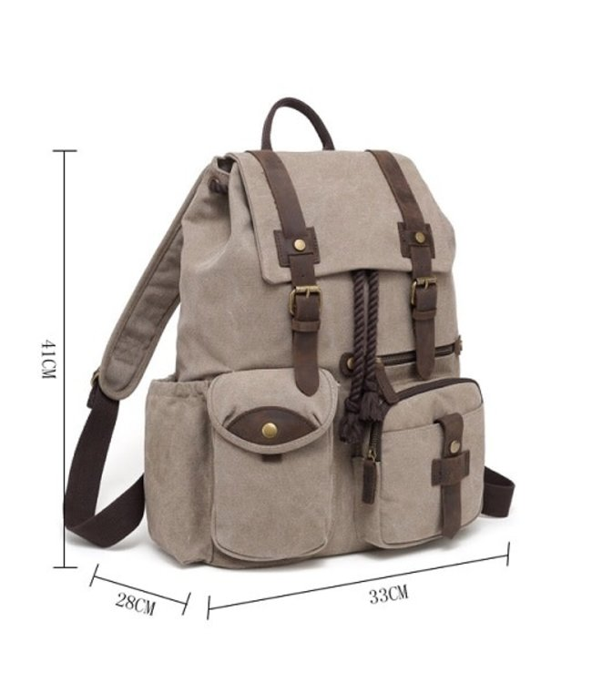 DaVan Co. Canvas Backpack Khaki