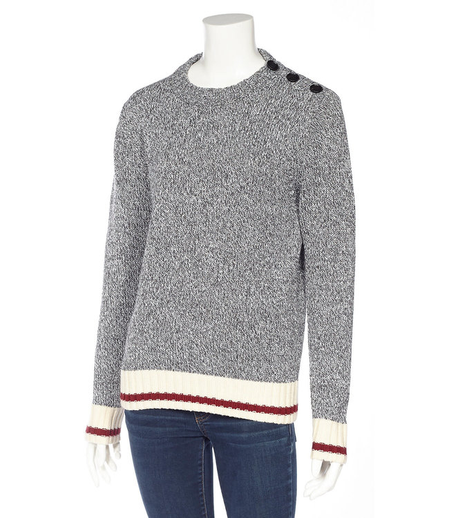 DKR and Apparel CC Pullover Sweater w/ Button Detail