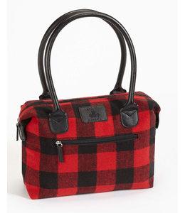 DKR and Apparel Buffalo Check Handbag w/Inner Pocket
