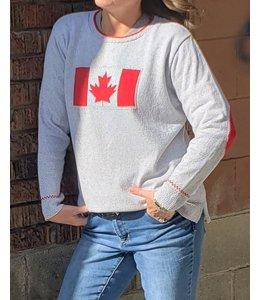 Parkhurst Canadian Flag-grey/red
