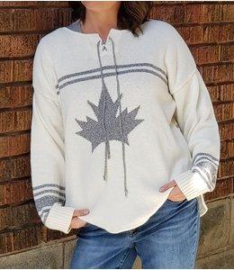 Parkhurst Hockey sweater -cream/grey mix