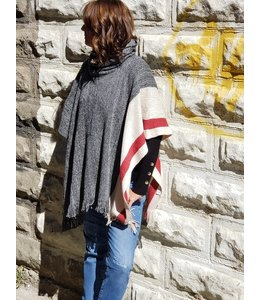 DKR and Apparel Knitted cowl neck cape
