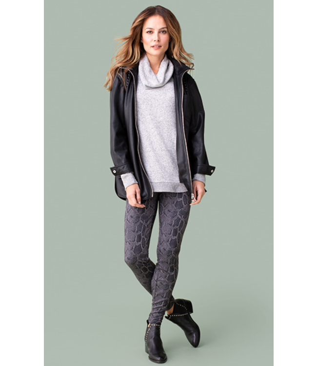 Tribal Packable hooded jacket-black