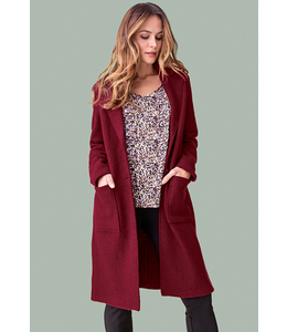 Tribal Boiled wool coat-Cabernet