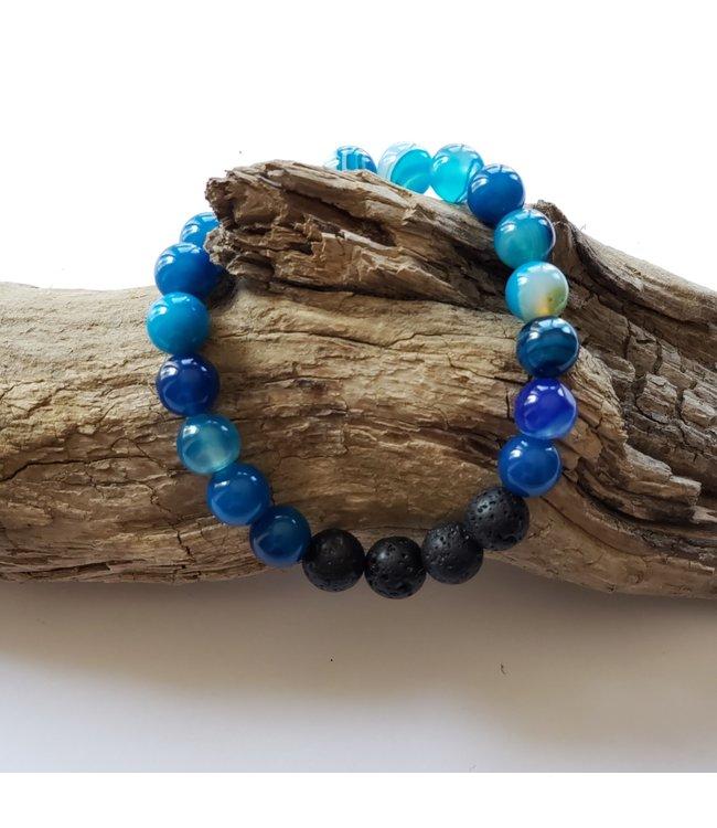 Kristin's Beads Bracelet- Blue Agate