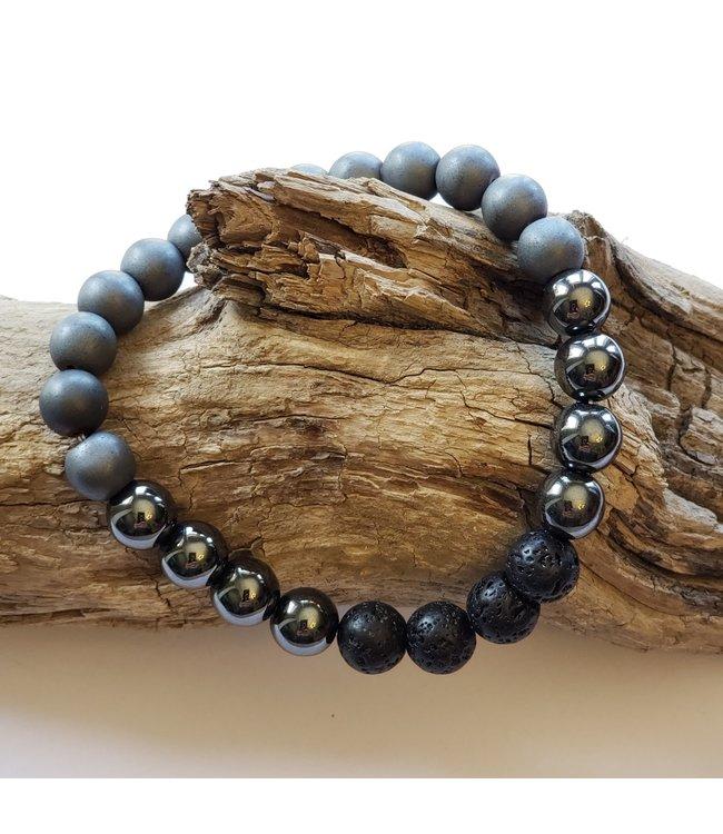 Kristin's Beads Bracelet- Hematite