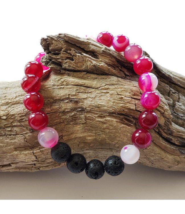 Kristin's Beads Bracelet- Magenta