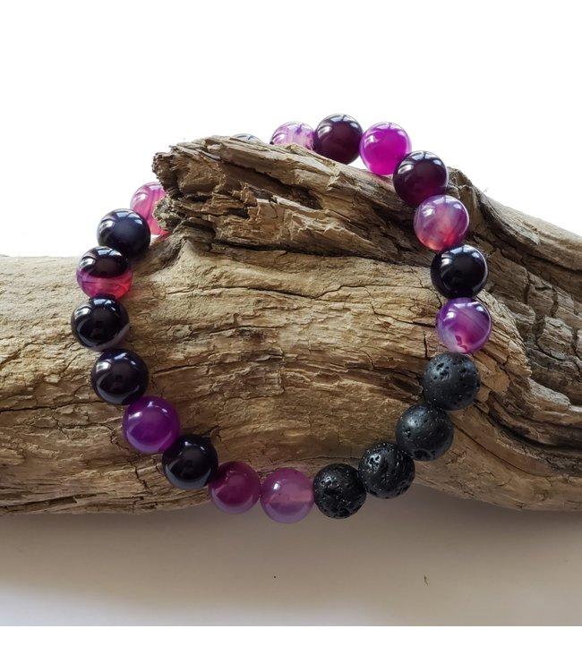 Kristin's Beads Bracelet- Purple Agate