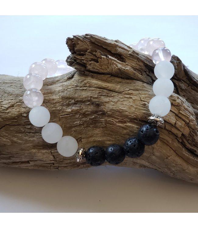 Kristin's Beads Bracelet- Rose Quartz