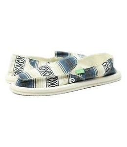 Sanuks Women Donna Blanket Blue/Tan Multi