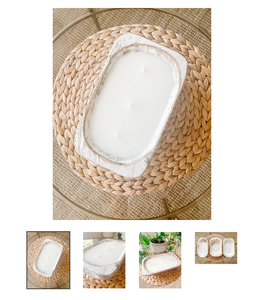 The Scented Market White Dough Bowl Warmth