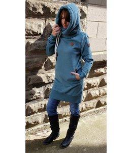 Wanakome Juno dress-stormy teal
