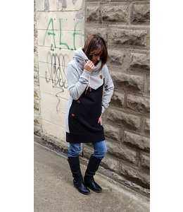 Wanakome Nora dress- lgt.blk./lgt.grey